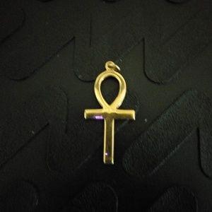 Gold cross. 14ct no chain.